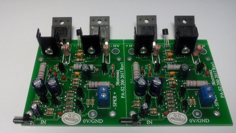 pa s200 2 4 8 ohm hifi bipolar class ab power audio amplifier motronix. Black Bedroom Furniture Sets. Home Design Ideas